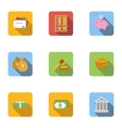 Cash icons set flat style vector image vector image