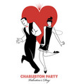 charleston party valentines day dance couple vector image vector image