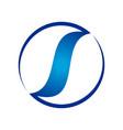 circular s balance lettermark symbol logo design vector image