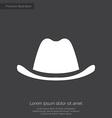 classic hat premium icon white on dark background vector image vector image