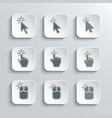 Click Here Mouse Web Icons Set vector image vector image