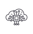cloud computing linear icon sign symbol vector image