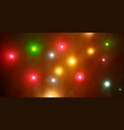 colorful defocused bokeh lights background vector image