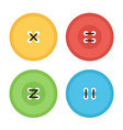 colorful flat design clothing buttons with threads vector image