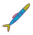 cute sea fish icon vector image vector image