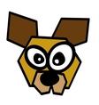 dog mascot character funny vector image