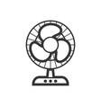 domestic fan outline single isolated icon vector image vector image