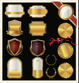 empty golden labels collection vector image vector image