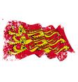 Englands Royal Baner Flag Grunge vector image vector image