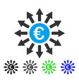euro payments flat icon vector image vector image
