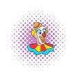 Face clown comics icon vector image vector image