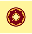 fast food icon donut pictograph vector image