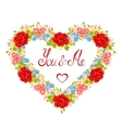 Floral frame in the shape of heart Design element vector image vector image