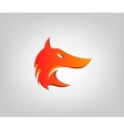 fox head in profile styling logo vector image vector image