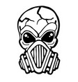 gas mask skull vector image vector image