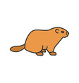 groundhog day color icon vector image