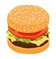 hamburger classic burger american cheeseburger vector image vector image