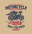 hand drawn vintage motorcycle vector image vector image