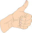 hand thumb up icon flat vector image