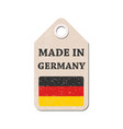 hang tag made in germany with flag vector image vector image