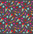 happy birthday party seamless pattern birthday vector image vector image