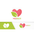 heart and leaf logo combination love and vector image