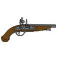 Historical matchlock pistol vector image vector image