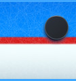 Hockey puck on line