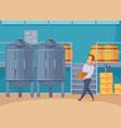 honey production facility cartoon composition vector image vector image