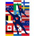 Ice Skaters countries vector image