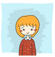 little girl id card vector image vector image