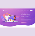 marketing team landing page concept vector image vector image