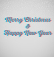 Marry christmas and happy New Year vector image