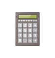 mathematical calculator on a white background vector image
