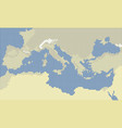 mediterranean sea pixel colors map vector image