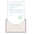 Open blank airmail envelope