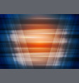 orange and blue technology futuristic background vector image vector image