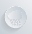 paper circle flat icon cloud rain vector image
