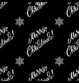 pattern with merry christmas lettering on a black vector image vector image