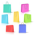 realistic paper bags set vector image vector image