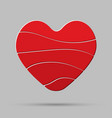 red heart element romance valentine day concept vector image vector image