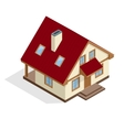 Residential House flat 3d isometric vector image vector image