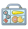 restaurant lunch icon cartoon style vector image