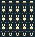 seamless native american pattern with hares and vector image vector image