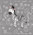 seamless pattern with zebra vector image