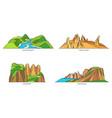set australia nature landmarks national parks vector image