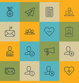 set of 16 social network icons includes chatting vector image vector image