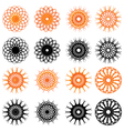 Set of swirl rounded design elements vector image