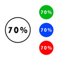 seventy percent icon vector image