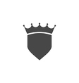 Shield Icon in trendy flat style isolated on grey vector image